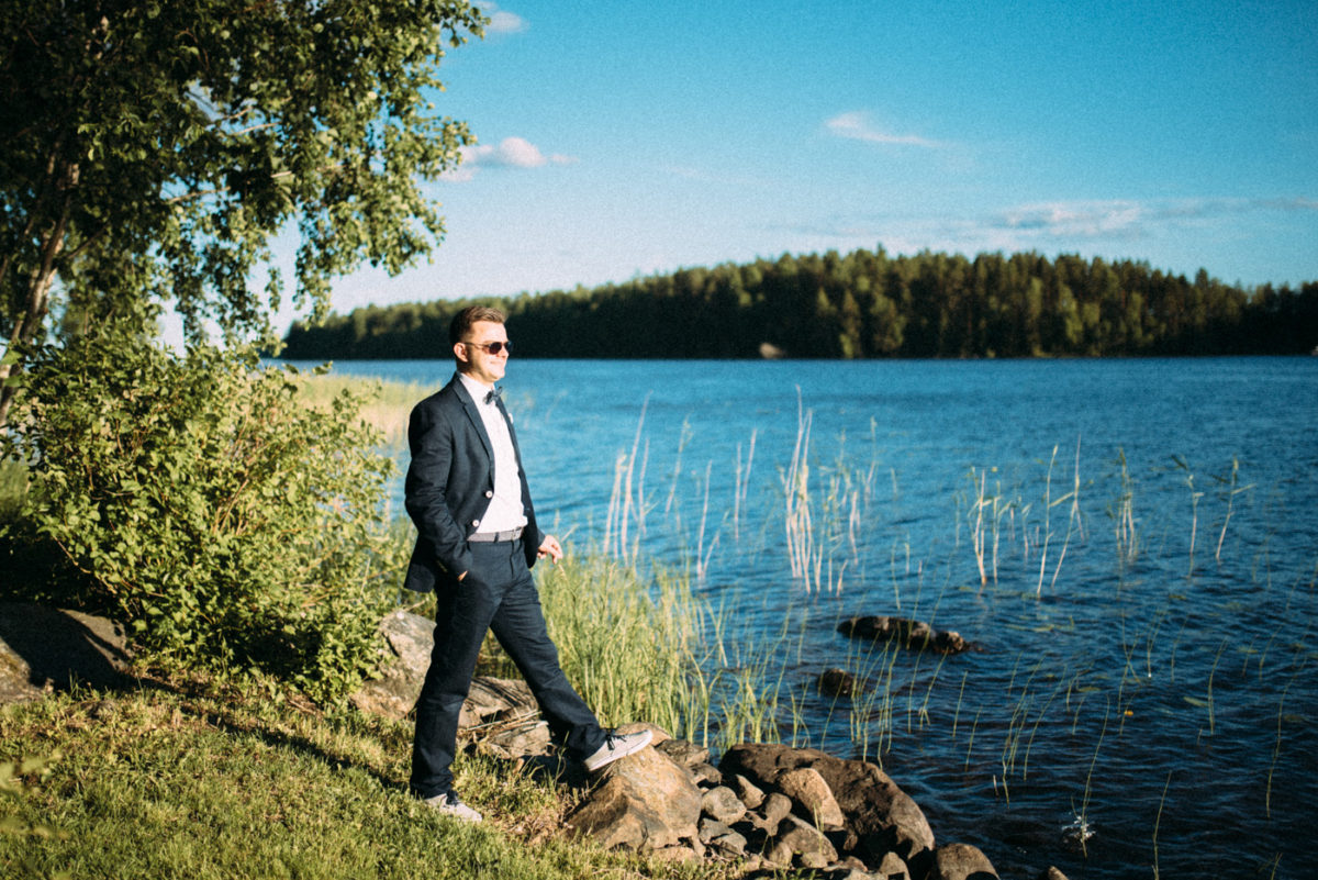 Finnland Seen Landschaft genießen