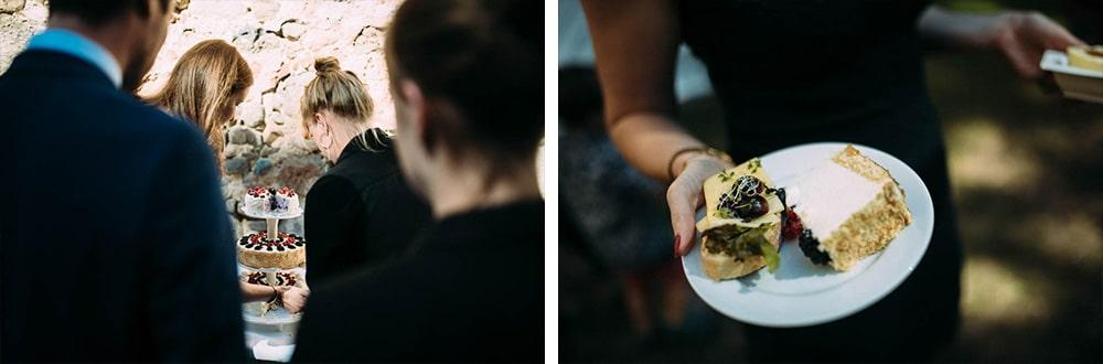 Torte und Snacks Hochzeit