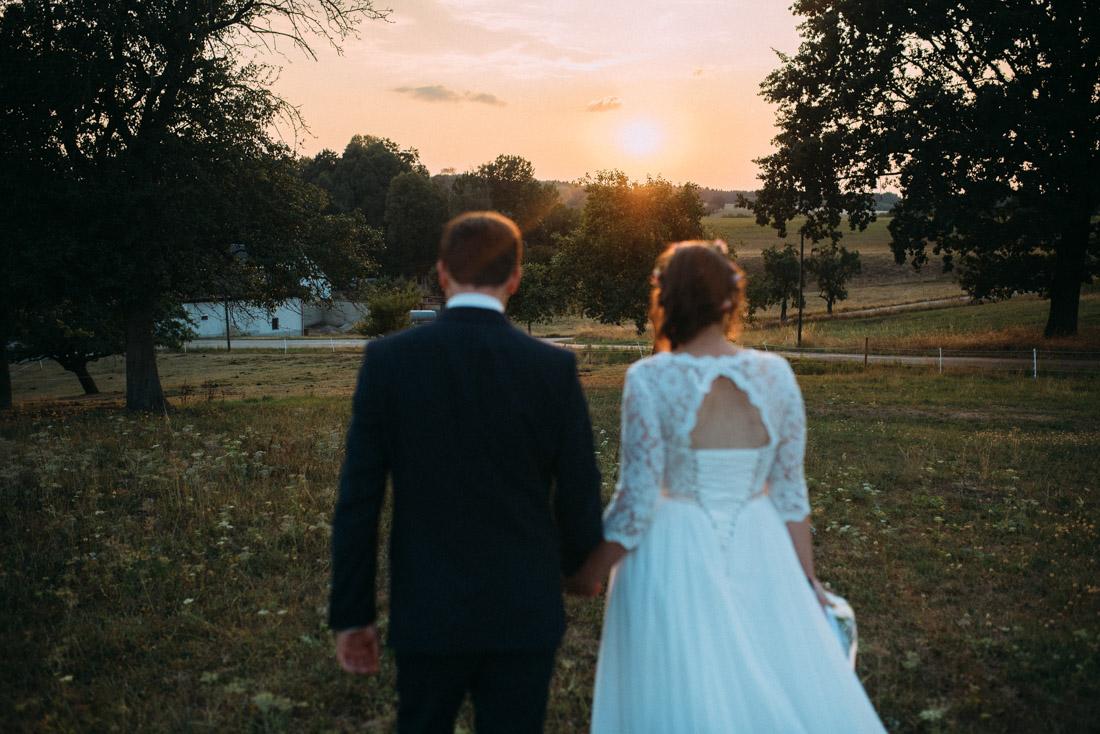 Paarshooting Hochzeit Sonnenuntergang