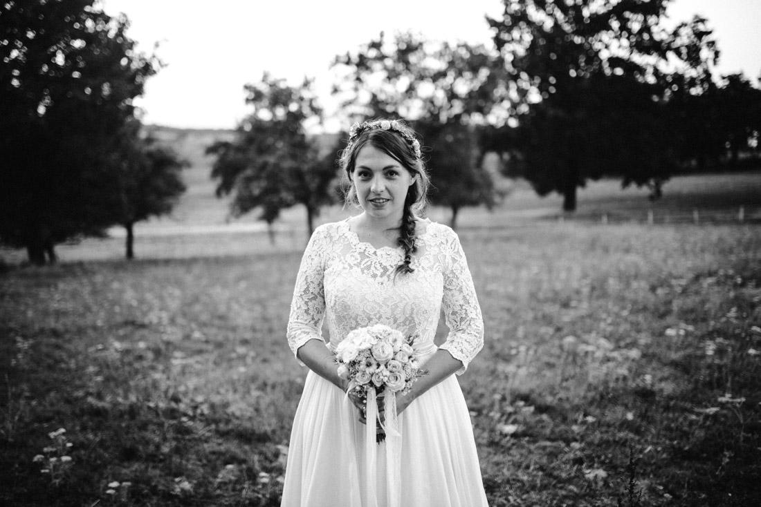 Brautportrait Hochzeit abends