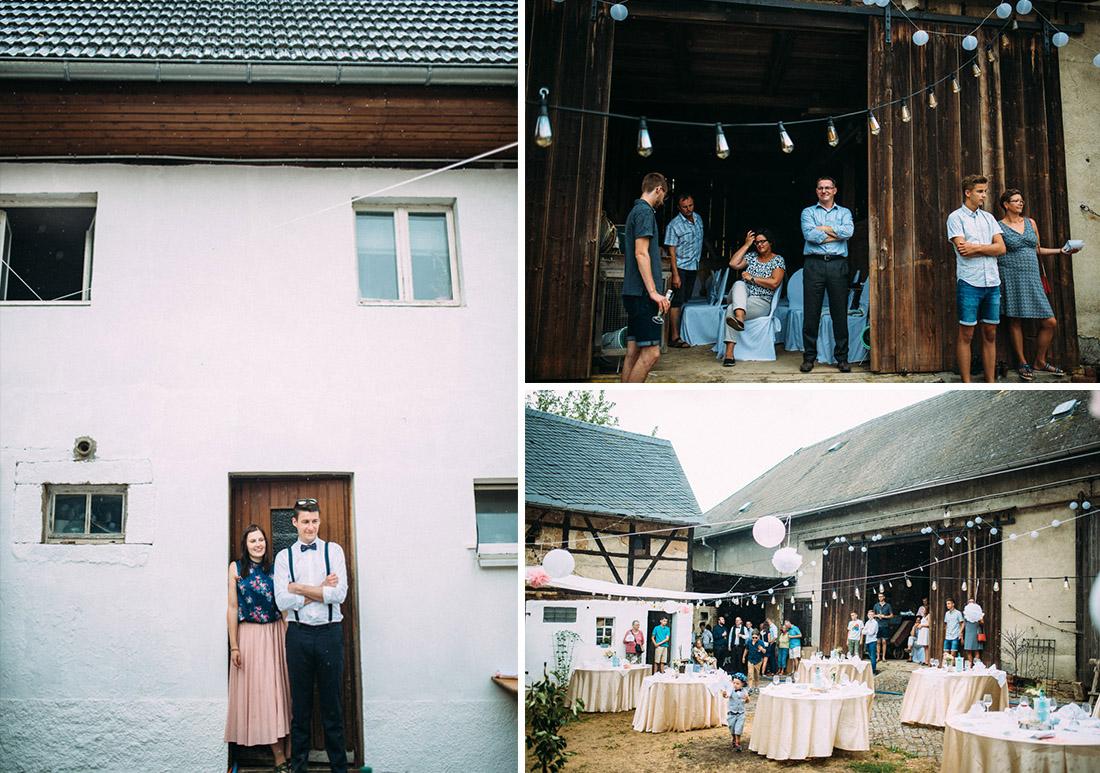 Hochzeit auf einem Bauernhof