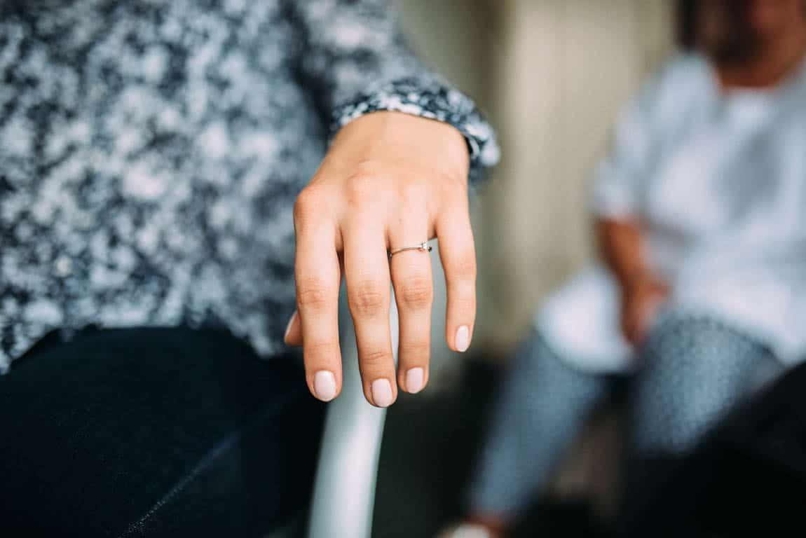 Verlobungsring Braut Getting Ready