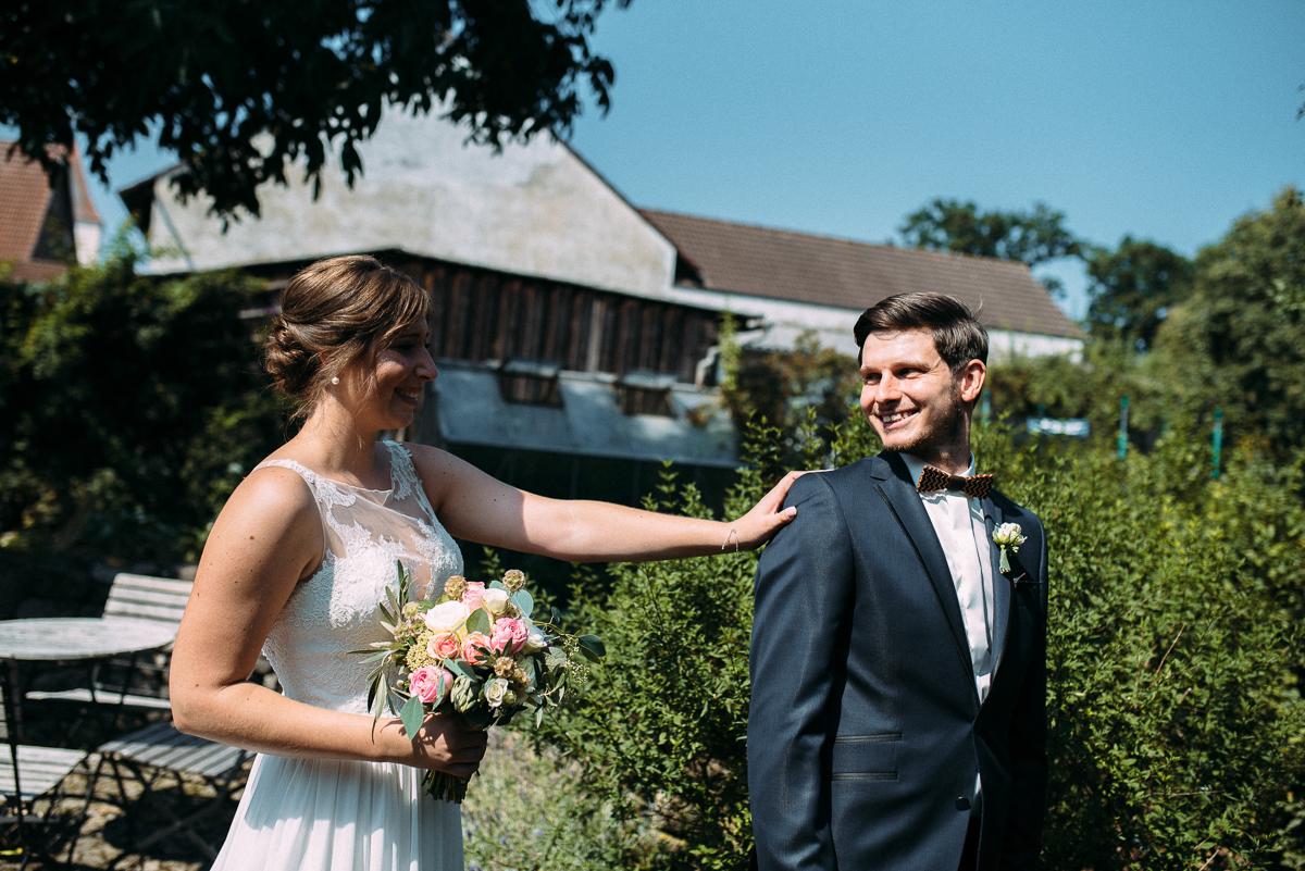 First look Hochzeit Scheunenhochzeit Nürnberg
