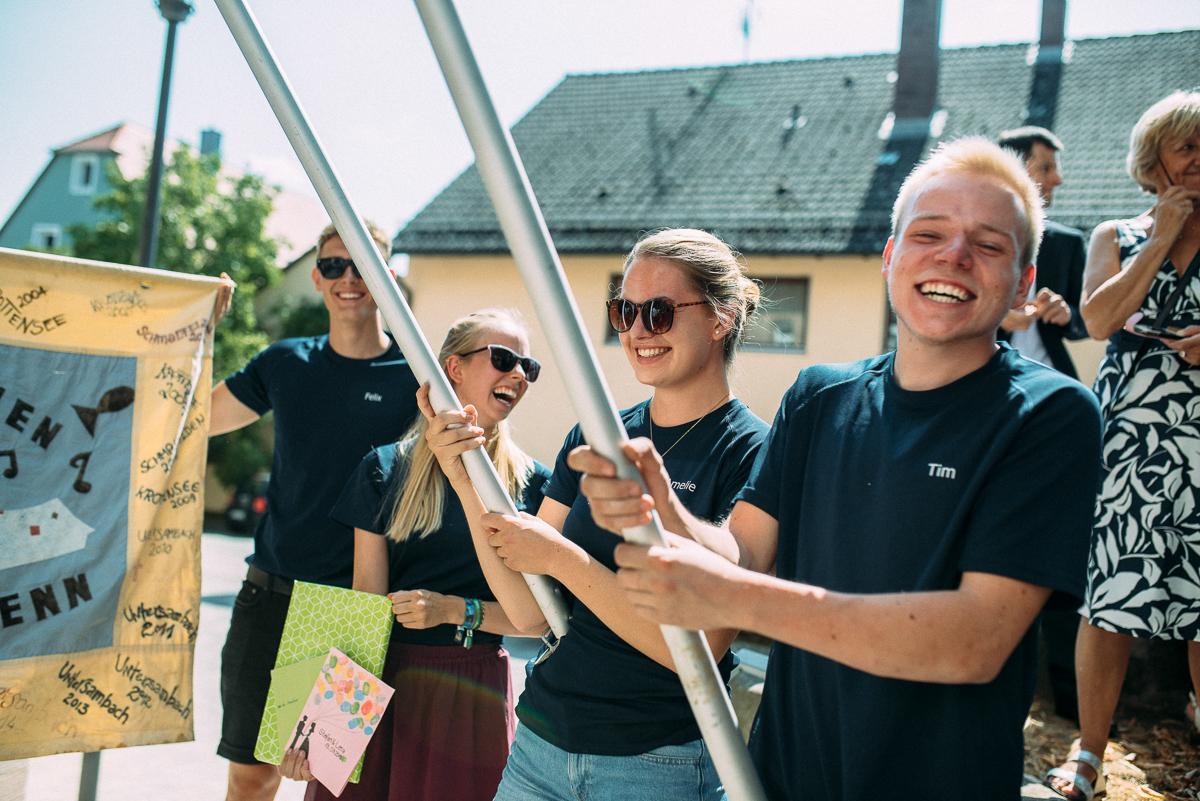 Momente Glückwünsche Hochzeit Reportage Scheunenhochzeit Nürnberg