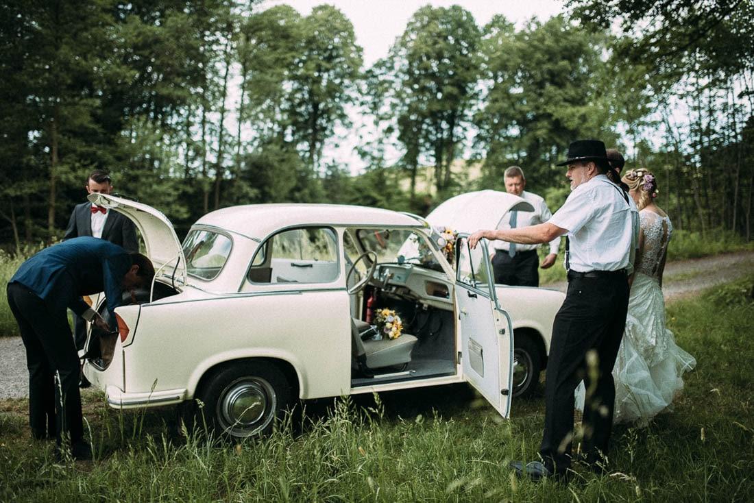 Vintage Hochzeit mit Oldtimer