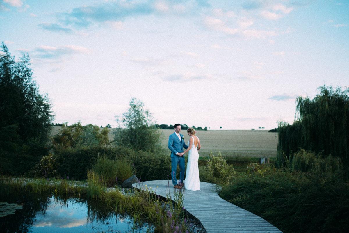 Hochzeitsbilder abends Sonnenuntergang